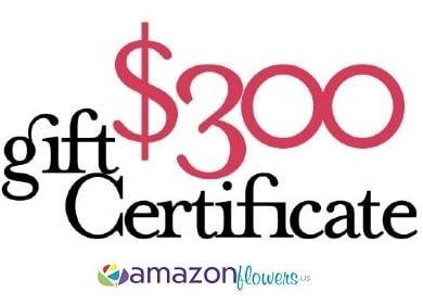 300 egift certificate amazon flowers