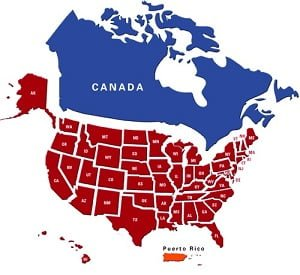 MAP USA and Canada 2