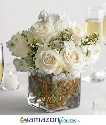 wedding centerpiece snow amazon flowers. Black Bedroom Furniture Sets. Home Design Ideas