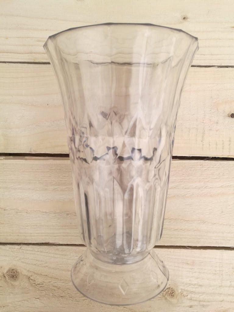 Amazon Flowers & Clear Plastic Vase