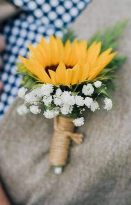 Corsage Boutonniere Sunflowers